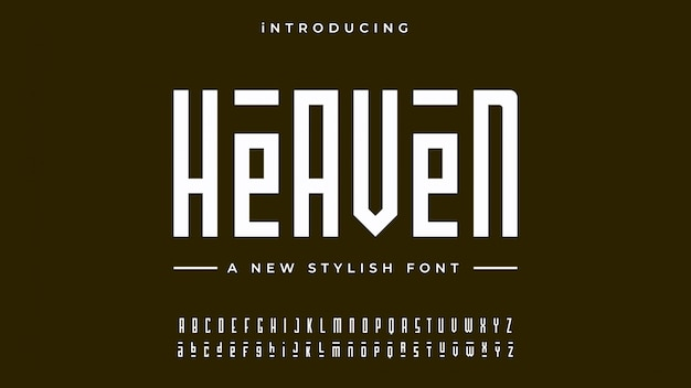 Heaven Alphabet Font Vecteur Premium