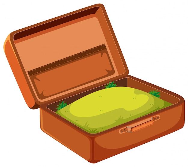 Une herbe dans une valise Vecteur gratuit