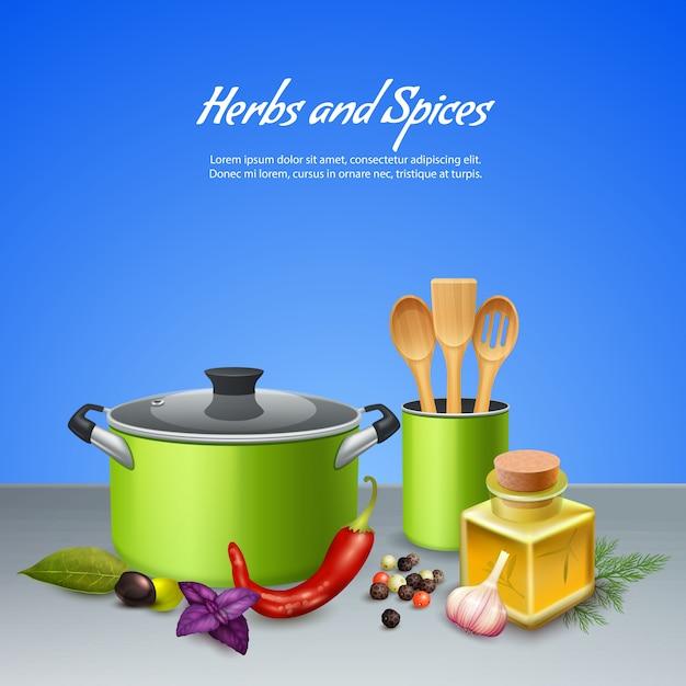 Herbes Et épices Vecteur gratuit