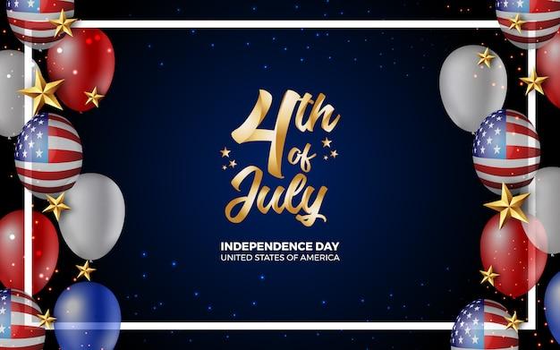 Heure du 4 juillet jour de l'indépendance de l'illustration en amérique Vecteur Premium