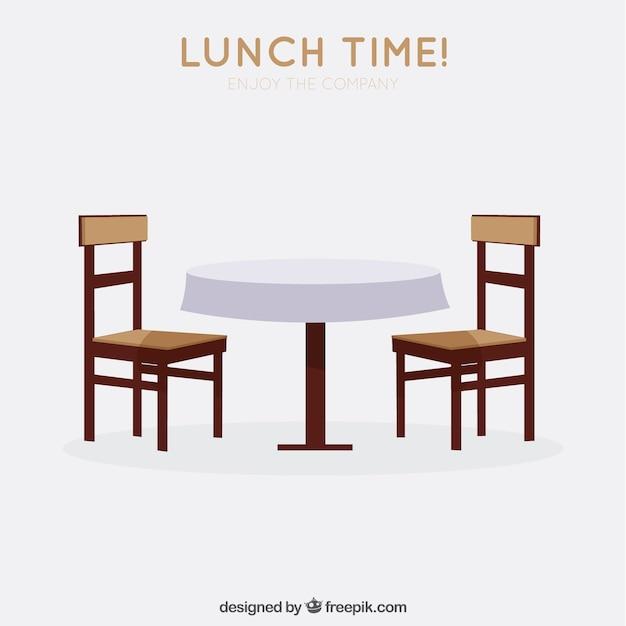 L'heure Du Déjeuner! Vecteur gratuit