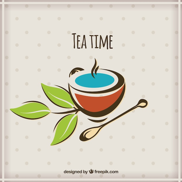 L'heure du thé Vecteur gratuit