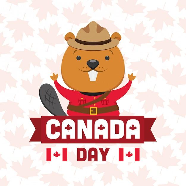 Heureuse fête du canada Vecteur gratuit