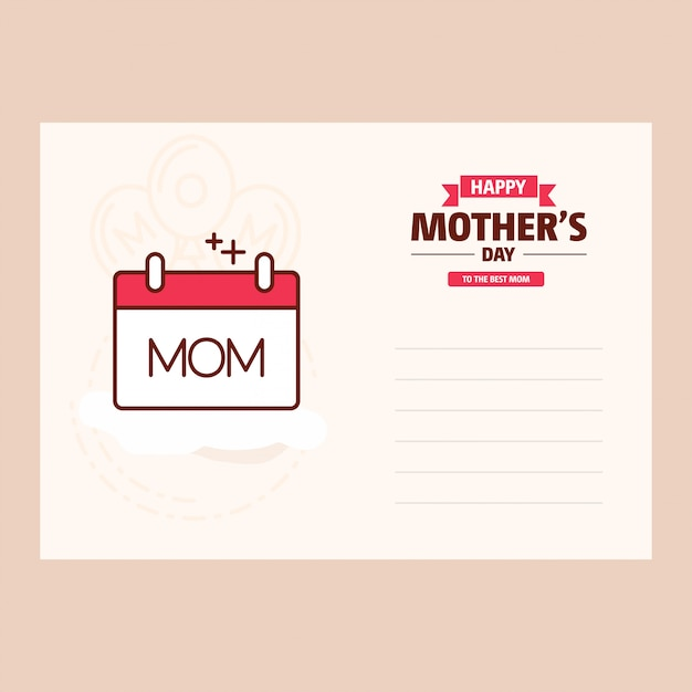 Heureuse fête des mères douce vintage background Vecteur gratuit