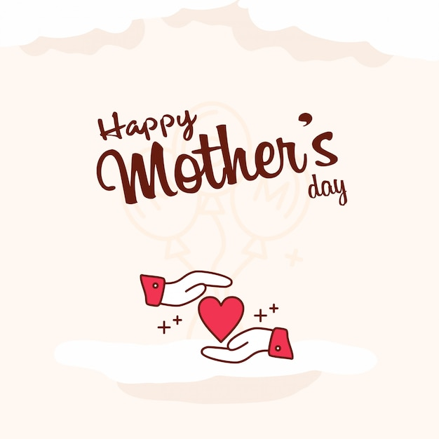Heureuse fête des mères fond célébration Vecteur gratuit