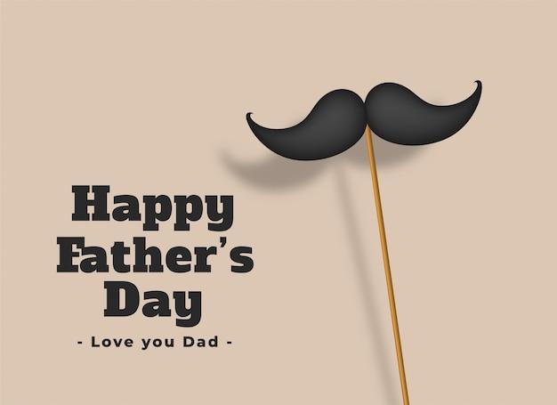 Heureuse fête des pères amoureuse Vecteur gratuit