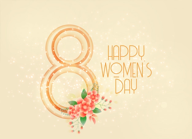 Heureuse journée de la femme 8 mars fond Vecteur gratuit