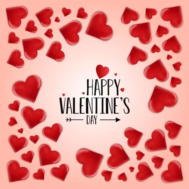 Heureuse saint valentin vector Vecteur gratuit