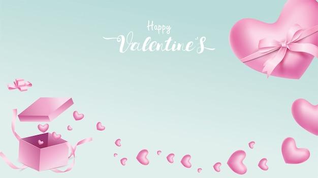 Heureuse saint valentin Vecteur Premium