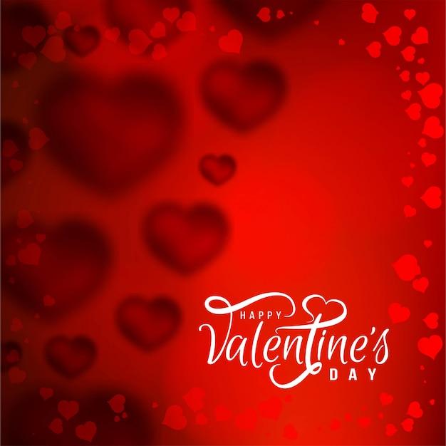 Heureux fond d'amour saint valentin Vecteur gratuit