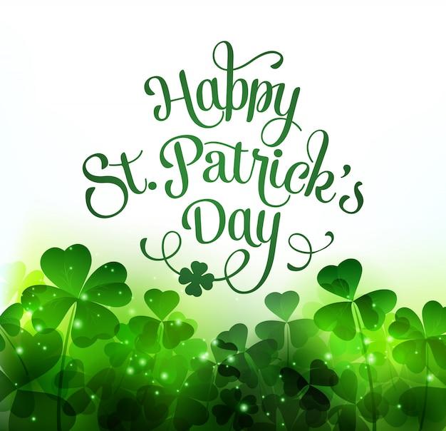 Heureux Fond De Saint Patricks Day. Vecteur Premium