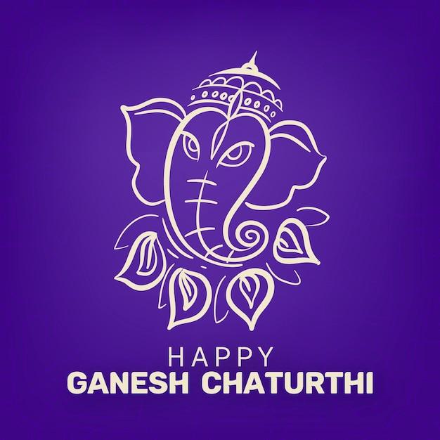 Heureux Ganesh Chaturthi Illustration Vecteur gratuit