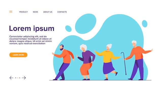 Heureux Personnes âgées Dansant à La Fête Vecteur gratuit