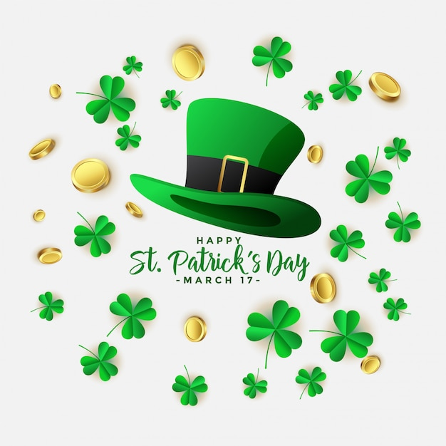 Heureux st patricks day background Vecteur gratuit