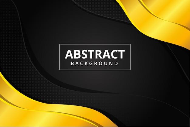 Hexagone Abstrait Et Fond D'écran Futuriste Moderne En Acier En Métal Doré En Couleur Noir Doré Vecteur Premium