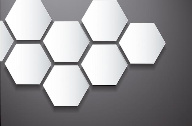 Hexagone abstrait et fond de l'espace Vecteur Premium