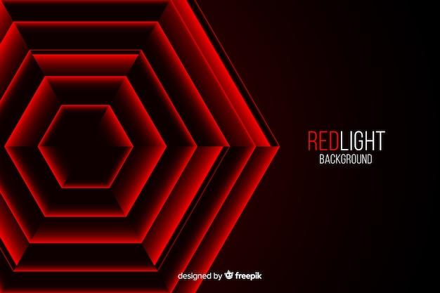 Hexagones lumières rouges placées les unes dans les autres Vecteur gratuit