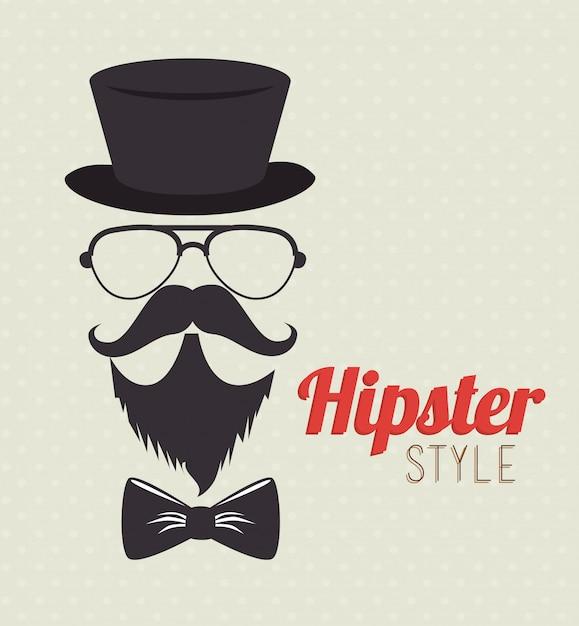 Hispter lifestyle et mode Vecteur Premium