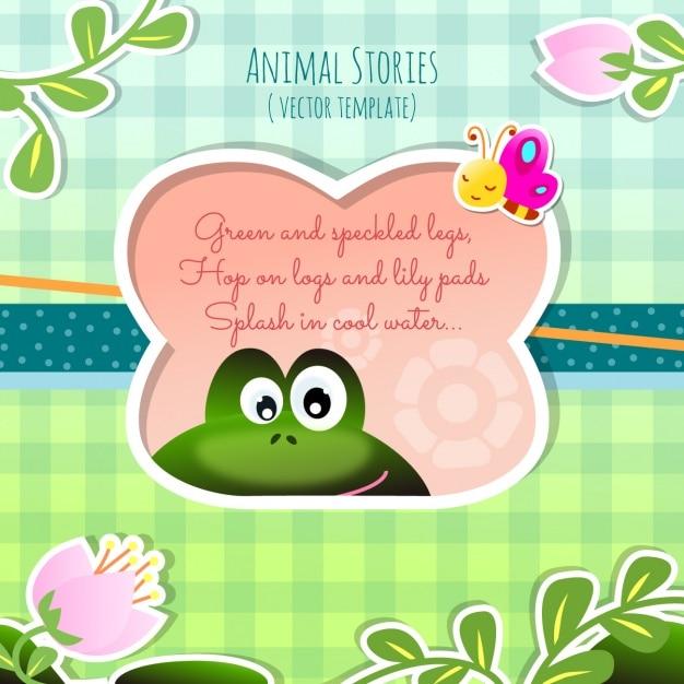 Histoires des animaux, la grenouille Vecteur gratuit