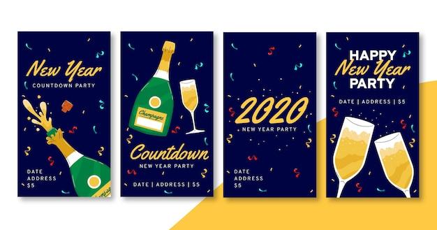 Histoires Instagram Pour La Fête Du Nouvel An 2021 Vecteur gratuit