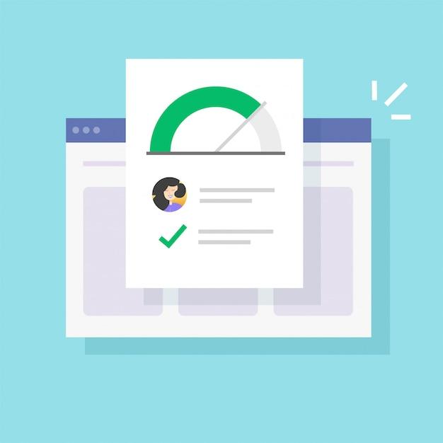 Historique Des Informations Sur Les Compétences Personnelles Et Bonne évaluation Des Données Vecteur Premium