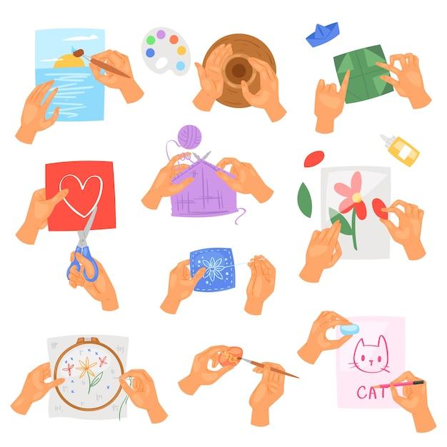Hobby mains vector instructions de lavage ou de nettoyage des mains avec du savon et de la mousse dans l'eau illustration antibactérienne ensemble de soins de la peau en bonne santé avec des bulles isolées Vecteur Premium