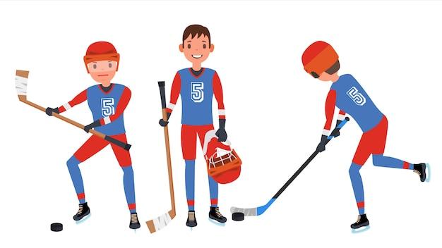 Hockey sur glace classique Vecteur Premium