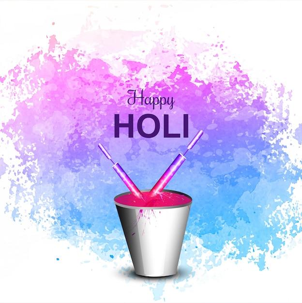Holi festival coloré fête fond Vecteur gratuit