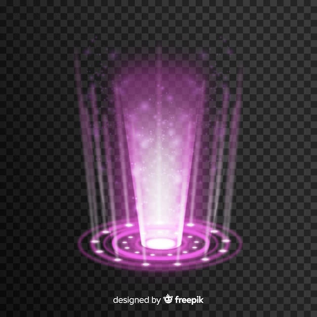 Hologramme réaliste d'un portail Vecteur gratuit