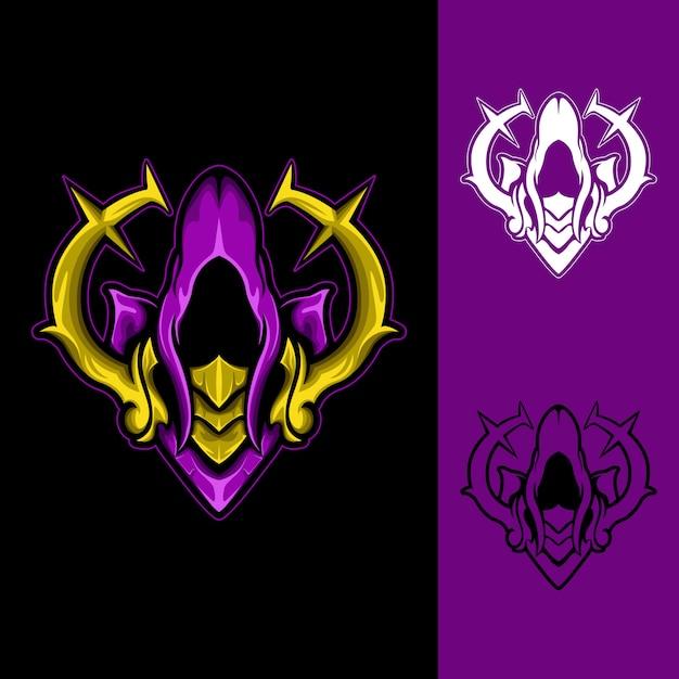 Holy magician: logo e-sport gaming Vecteur Premium