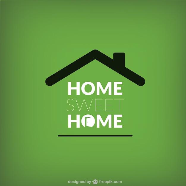 Home sweet home lettrage Vecteur gratuit