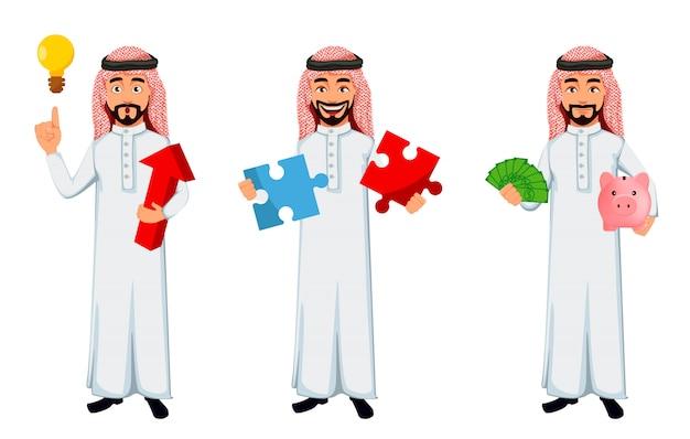 Homme d'affaires arabe moderne Vecteur Premium
