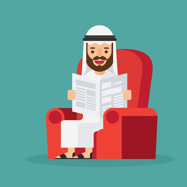 Homme D'affaires Arabe Vecteur Premium