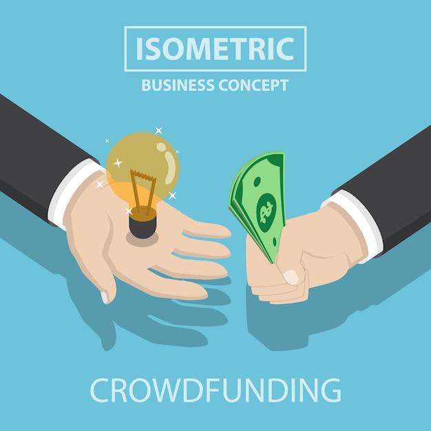 Homme D'affaires Isométrique Acheter Et Vendre Une Nouvelle Idée Vecteur Premium