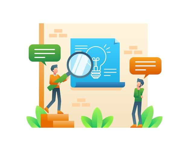 Homme D'affaires Pensant Et Recherchant Une Idée D'entreprise Vecteur Premium