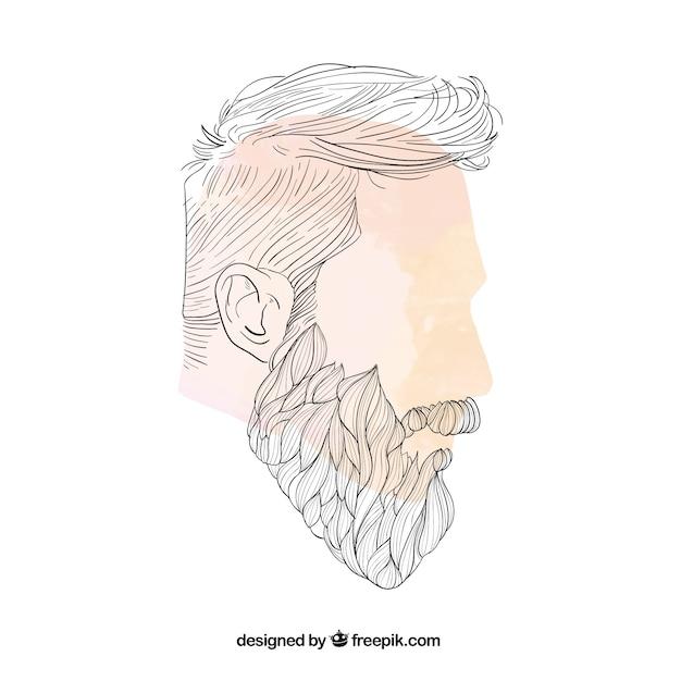 Homme de la coiffure Vecteur gratuit