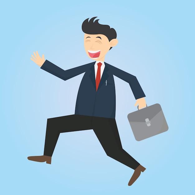 Homme d 39 affaires va au travail dessin anim dessin anim - Dessin travail ...