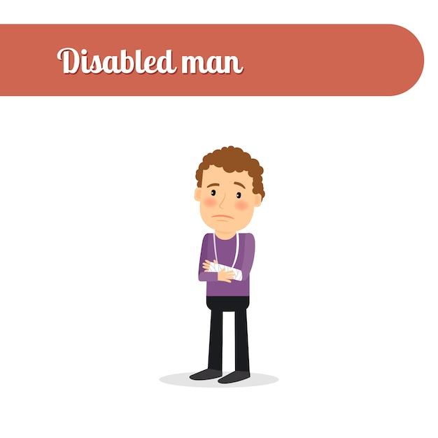 Homme avec fractures Vecteur Premium