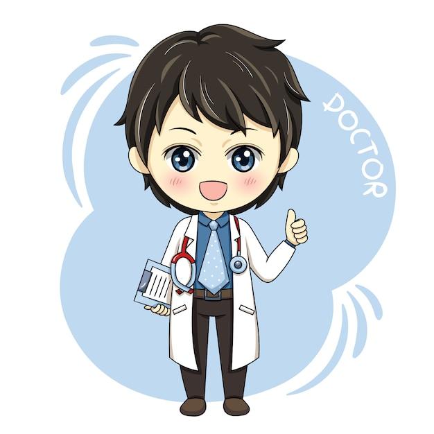Homme médecin Vecteur Premium