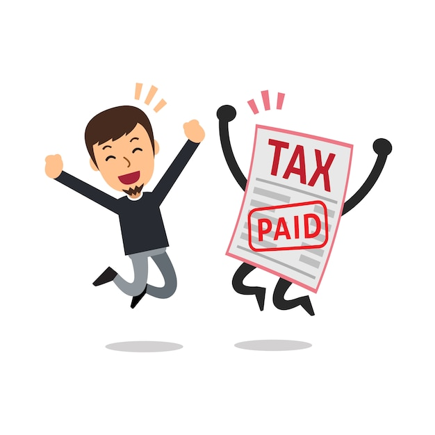 L'homme A Payé L'impôt Vecteur Premium