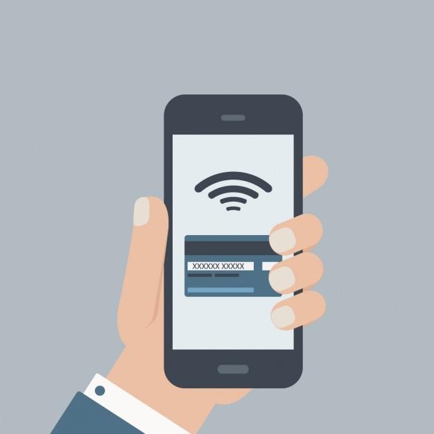 Homme Utilisant Un Téléphone Mobile Vecteur gratuit