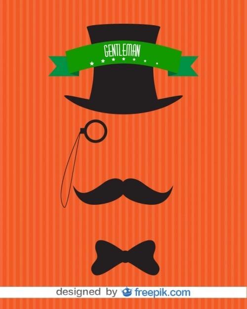 Hommes invisibles monsieur conception d'affiche de cru Vecteur gratuit