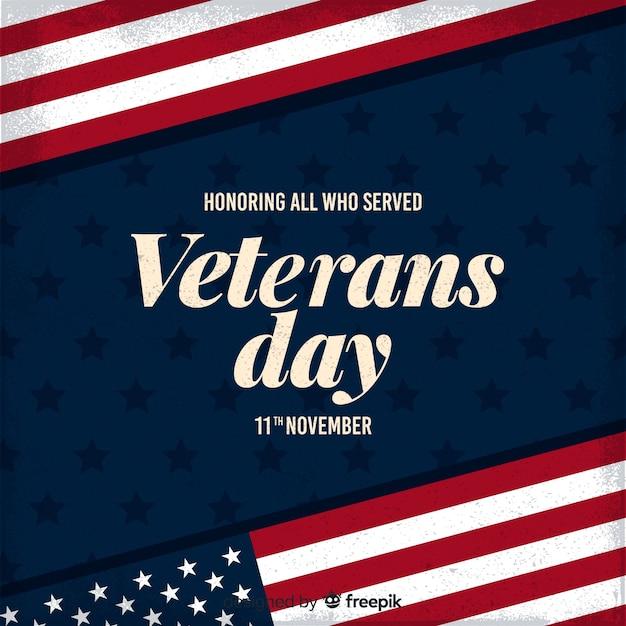 Un honneur pour tous ceux qui ont servi la journée des anciens combattants Vecteur gratuit