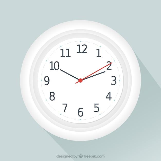 Horloge blanc Vecteur gratuit