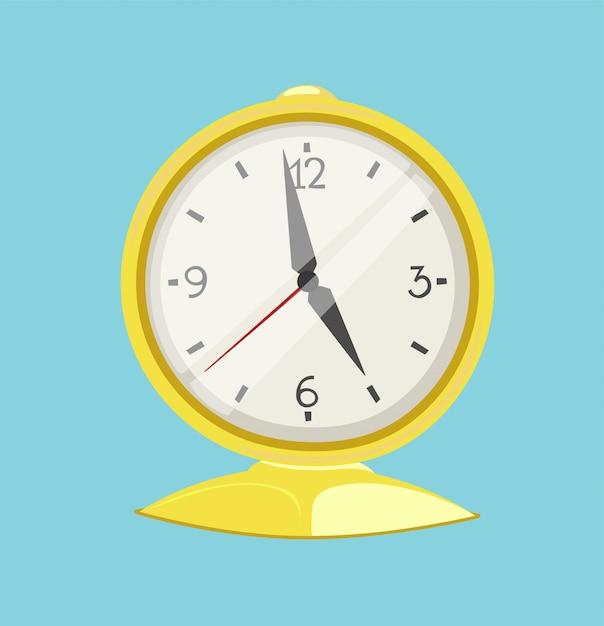 Horloge montre alarme icône illustration Vecteur Premium