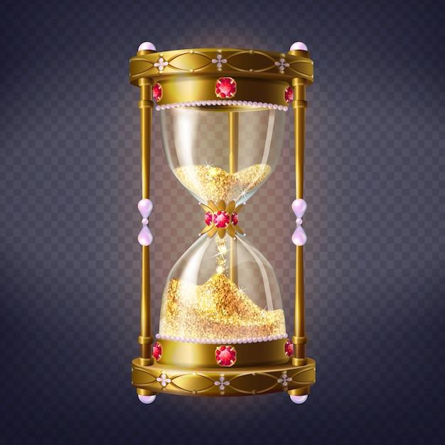 Horloge de sable doré Vecteur gratuit