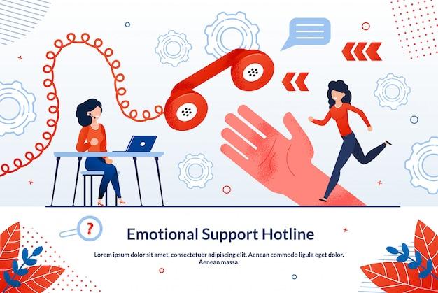 Hotline de soutien émotionnel Vecteur Premium