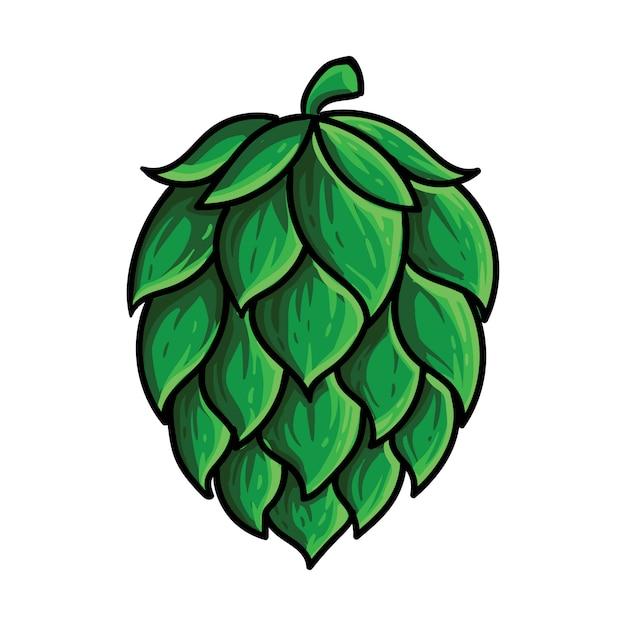 Houblon Brassage De Bière De Fruits Vecteur Premium