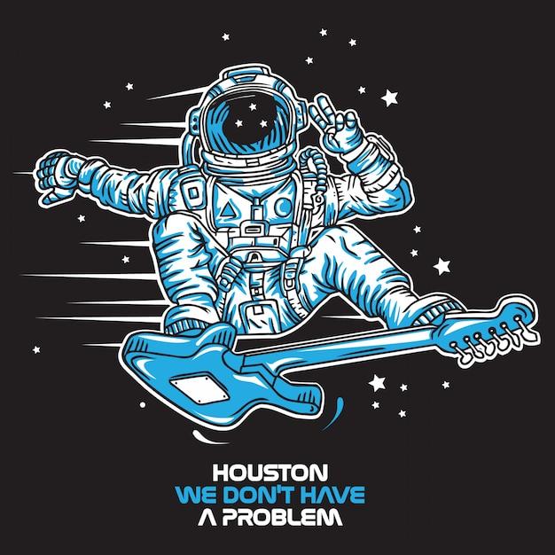 Houston Nous N'avons Pas De Problème Vecteur Premium