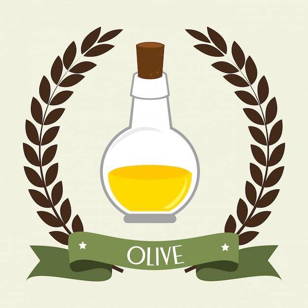 Huile d'olive naturelle Vecteur gratuit